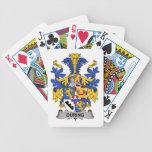 Durante el escudo de la familia baraja cartas de poker