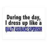 Durante el supervisor de la garantía de calidad de postales