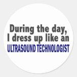 Durante el tecnólogo del ultrasonido del día pegatina