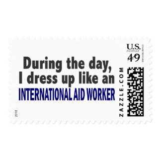 Durante el trabajador de ayuda internacional del sello