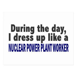 Durante el trabajador de la central nuclear del postal