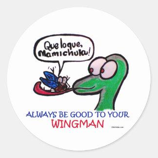 Durante Mamichula Wingman Classic Round Sticker