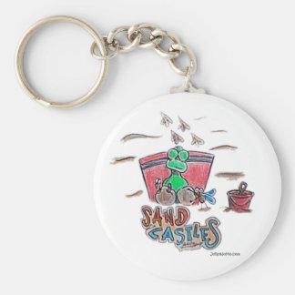 Durante Sand Castles Basic Round Button Keychain
