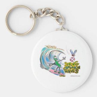 Durante Spring Breakin Waves Basic Round Button Keychain