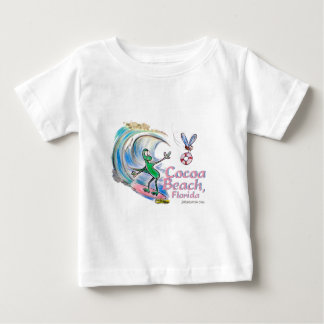 Durante Surfing Cocoa Beach, Florida Baby T-Shirt
