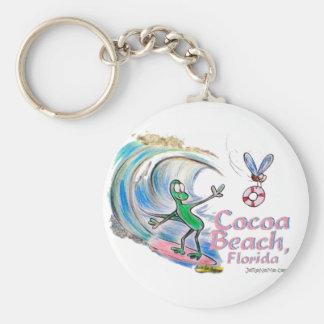 Durante Surfing Cocoa Beach, Florida Basic Round Button Keychain
