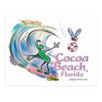 Durante Surfing Cocoa Beach, Florida Postcard