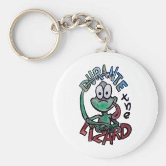 Durante the Lizard Basic Round Button Keychain
