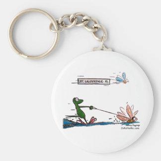 Durante Water Skiing Ft. Lauderdale Florida Basic Round Button Keychain