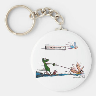 Durante Water Skiing Ft. Lauderdale Florida Keychain