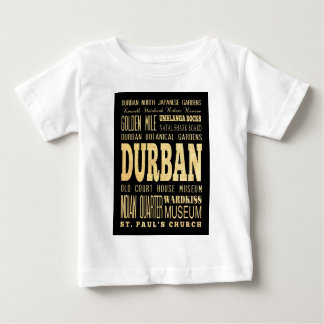 Durban City South Africa Typography Art Baby T-Shirt