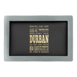 Durban City South Africa Typography Art Belt Buckle