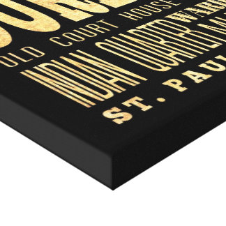Durban City South Africa Typography Art Canvas Prints