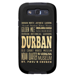 Durban City South Africa Typography Art Galaxy S3 Covers