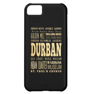 Durban City South Africa Typography Art Cover For iPhone 5C