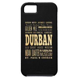 Durban City South Africa Typography Art iPhone 5 Cases