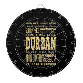 Durban City South Africa Typography Art Dartboard