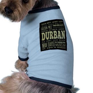 Durban City South Africa Typography Art Dog Tee Shirt