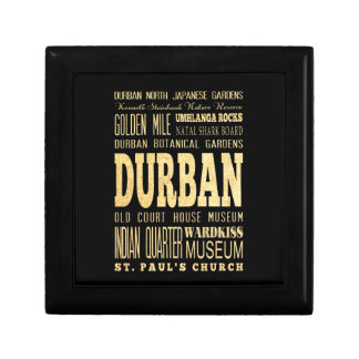 Durban City South Africa Typography Art Keepsake Boxes