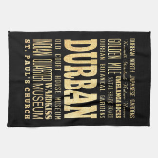 Durban City South Africa Typography Art Towels