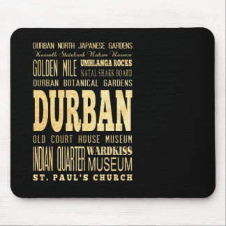 Durban City South Africa Typography Art Mouse Pads