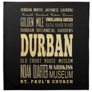 Durban City South Africa Typography Art Napkins