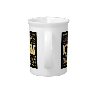 Durban City South Africa Typography Art Beverage Pitcher
