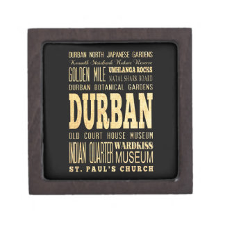 Durban City South Africa Typography Art Premium Keepsake Box