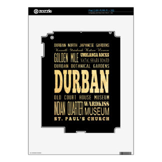 Durban City South Africa Typography Art Skin For The iPad 2