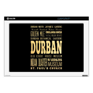 Durban City South Africa Typography Art Laptop Decals