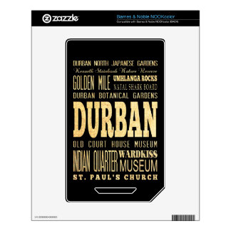 Durban City South Africa Typography Art Skin For The NOOK Color