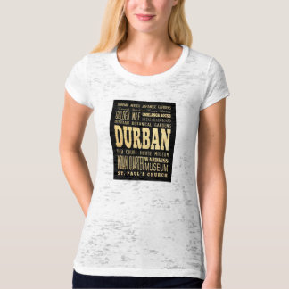 Durban City South Africa Typography Art T-Shirt