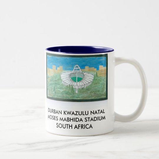 DURBAN KWAZULU NATAL MOSES MABHIDA STADIUMS Two-Tone COFFEE MUG