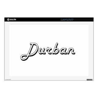 "Durban South Africa Classic Retro Design 17"" Laptop Decal"