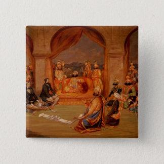 Durbar at Udaipur, Rajasthan, 1855 Button