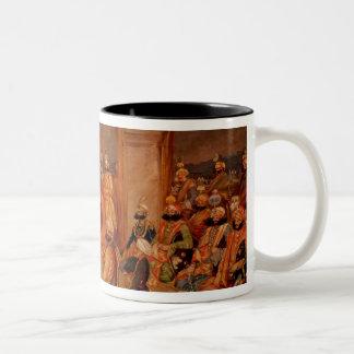 Durbar at Udaipur, Rajasthan, 1855 Two-Tone Coffee Mug
