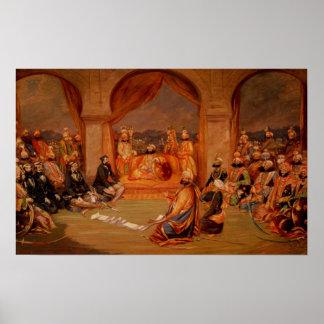 Durbar en Udaipur, Rajasthán, 1855 Póster