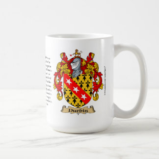 Durbin, the Origin, the Meaning and the Crest Classic White Coffee Mug