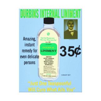 Durbins Internal Liniment Canvas Print