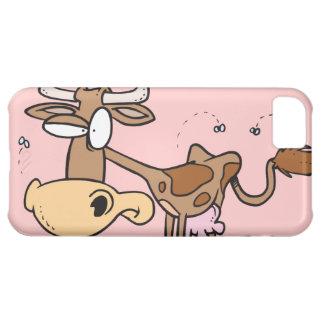 durch Fliegen-C del hörte de Kuh del braune del ni Funda Para iPhone 5C