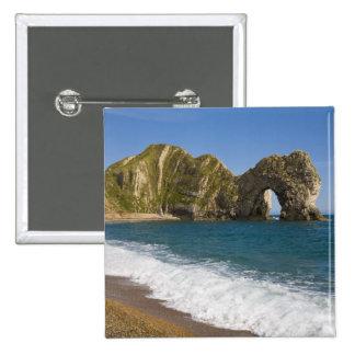 Durdle Door, Lulworth Cove, Jurassic Coast, 2 Inch Square Button