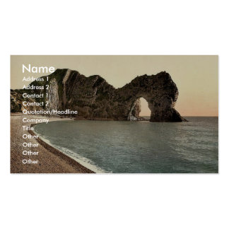 Durdle Door, Lulworth, England classic Photochrom Double-Sided Standard Business Cards (Pack Of 100)