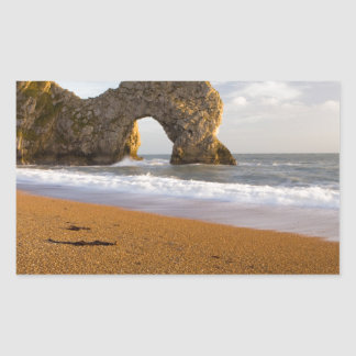 Durdle Door Rock Arch Dorset England Rectangular Sticker