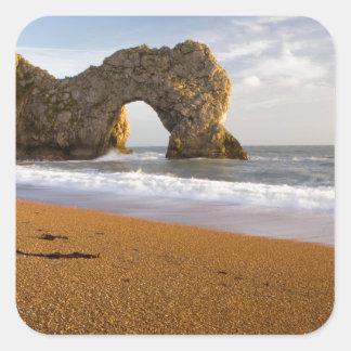 Durdle Door Rock Arch Dorset England Square Stickers