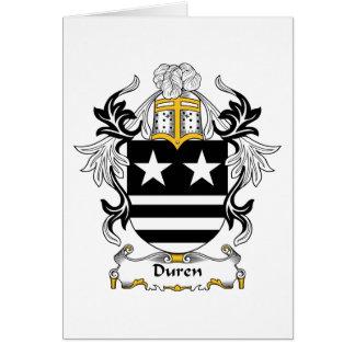 Duren Family Crest Card
