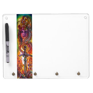 DURENDAL , ROMANTIC SWORD AND THE ANGEL DRY ERASE BOARD WITH KEYCHAIN HOLDER