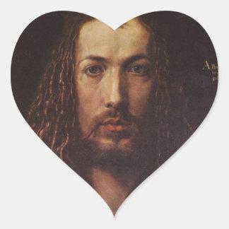 Dürer Portrait Heart Sticker