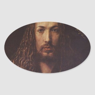 Dürer Portrait Oval Sticker