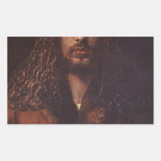 Dürer Portrait Rectangular Sticker