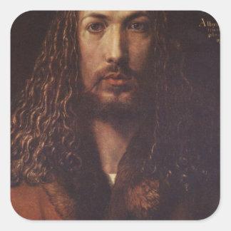 Dürer Portrait Square Sticker